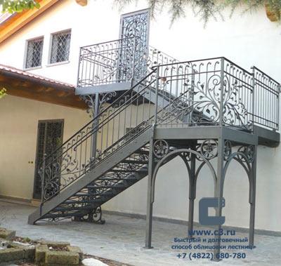 фото лестницы на второй этаж с улицы
