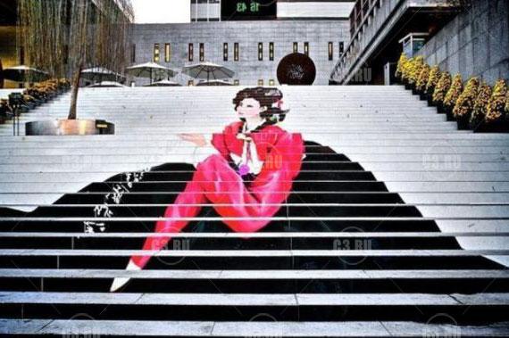 Японская уличная лестница