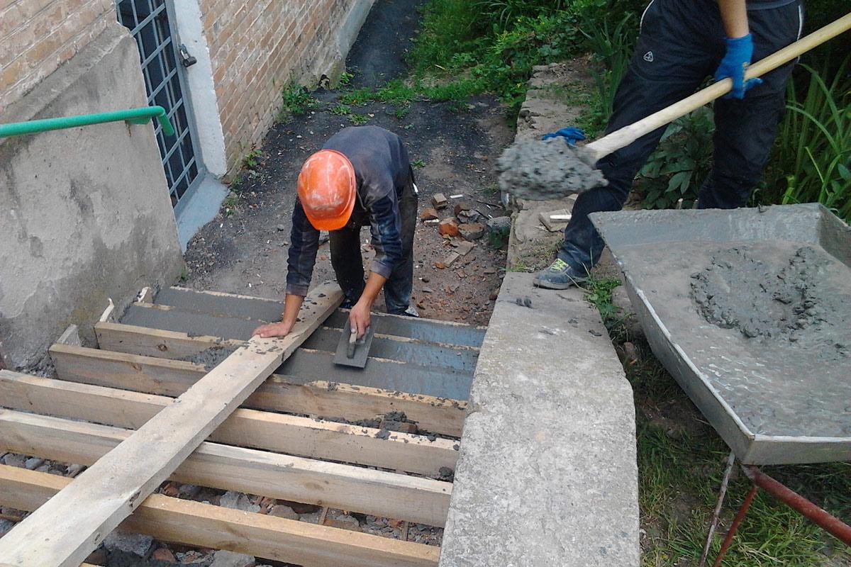 как правильно заливать ступеньки бетоном