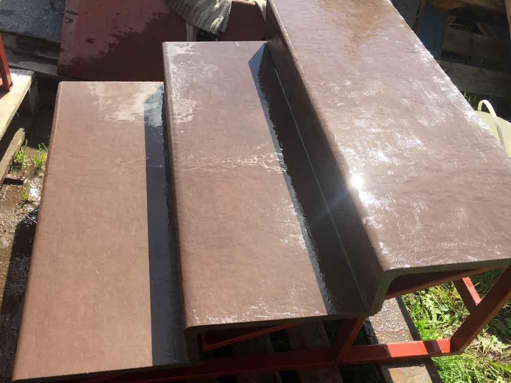 Ступени из фибробетона для крыльца бетон в25 купить челябинск